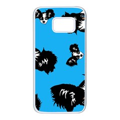 Cute Face Dog Funny Detective Samsung Galaxy S7 White Seamless Case