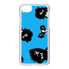 Cute Face Dog Funny Detective Apple Iphone 7 Seamless Case (white)