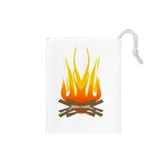 Fire Drawstring Pouches (small)