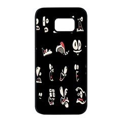 Face Mask Animals Samsung Galaxy S7 Edge Black Seamless Case