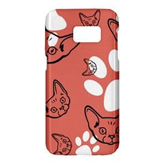 Face Cat Pink Cute Samsung Galaxy S7 Hardshell Case