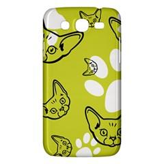Face Cat Green Samsung Galaxy Mega 5 8 I9152 Hardshell Case