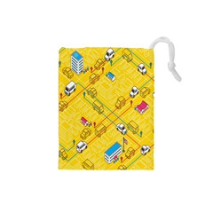 Highway Town Drawstring Pouches (small)
