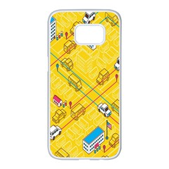 Highway Town Samsung Galaxy S7 Edge White Seamless Case