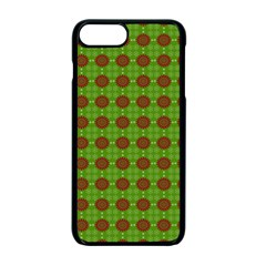 Christmas Paper Wrapping Patterns Apple iPhone 7 Plus Seamless Case (Black)