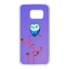 Owl Spider Samsung Galaxy S7 White Seamless Case