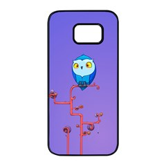 Owl Spider Samsung Galaxy S7 Edge Black Seamless Case
