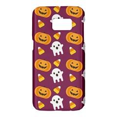 Pumpkin Ghost Canddy Helloween Samsung Galaxy S7 Hardshell Case
