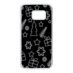 Simple Xmas Pattern Samsung Galaxy S7 White Seamless Case