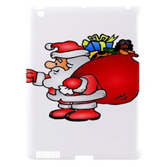 Santa Claus Xmas Christmas Apple Ipad 3/4 Hardshell Case (compatible With Smart Cover)