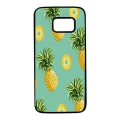 Pineapple Samsung Galaxy S7 Black Seamless Case