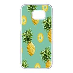 Pineapple Samsung Galaxy S7 Edge White Seamless Case