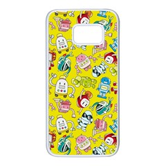 Robot Cartoons Samsung Galaxy S7 White Seamless Case