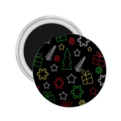 Colorful Xmas pattern 2.25  Magnets