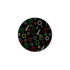 Colorful Xmas pattern Golf Ball Marker (10 pack)