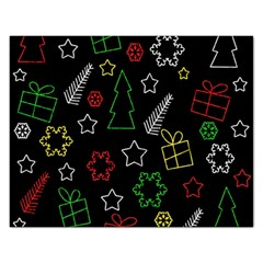 Colorful Xmas pattern Rectangular Jigsaw Puzzl