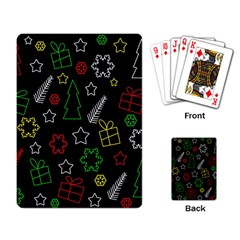 Colorful Xmas pattern Playing Card