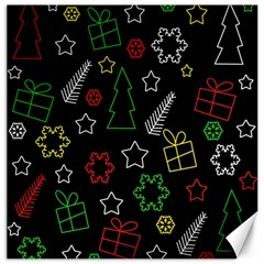 Colorful Xmas pattern Canvas 20  x 20