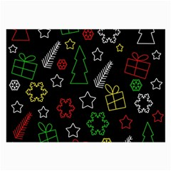 Colorful Xmas pattern Large Glasses Cloth (2-Side)