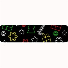 Colorful Xmas pattern Large Bar Mats