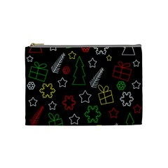 Colorful Xmas pattern Cosmetic Bag (Medium)