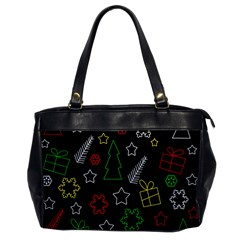 Colorful Xmas pattern Office Handbags