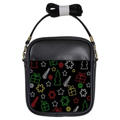 Colorful Xmas pattern Girls Sling Bags