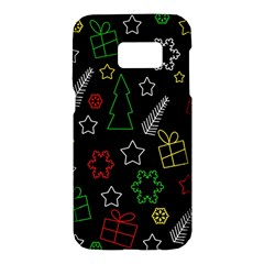 Colorful Xmas pattern Samsung Galaxy S7 Hardshell Case