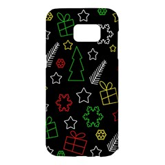 Colorful Xmas pattern Samsung Galaxy S7 Edge Hardshell Case