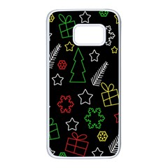Colorful Xmas pattern Samsung Galaxy S7 White Seamless Case