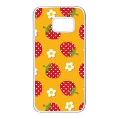 Strawberry Samsung Galaxy S7 White Seamless Case