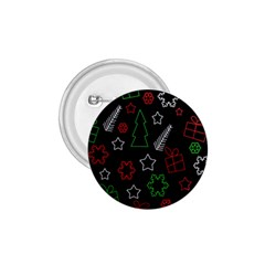 Green and  red Xmas pattern 1.75  Buttons