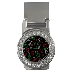 Green and  red Xmas pattern Money Clips (CZ)