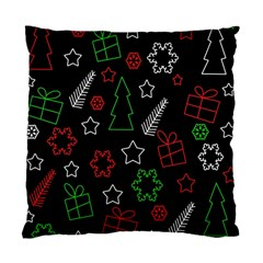 Green and  red Xmas pattern Standard Cushion Case (One Side)