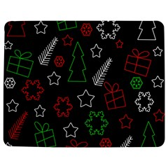 Green and  red Xmas pattern Jigsaw Puzzle Photo Stand (Rectangular)