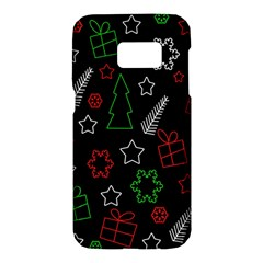 Green and  red Xmas pattern Samsung Galaxy S7 Hardshell Case