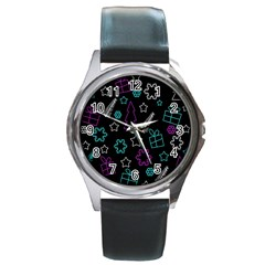 Creative Xmas pattern Round Metal Watch