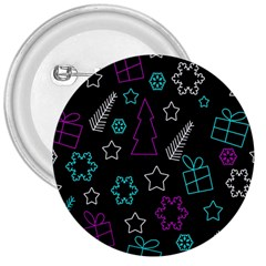 Creative Xmas pattern 3  Buttons