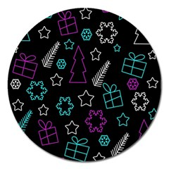Creative Xmas pattern Magnet 5  (Round)