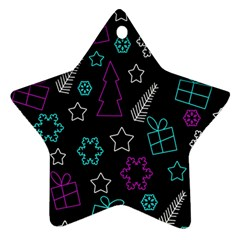 Creative Xmas pattern Star Ornament (Two Sides)