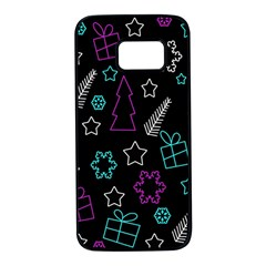 Creative Xmas pattern Samsung Galaxy S7 Black Seamless Case