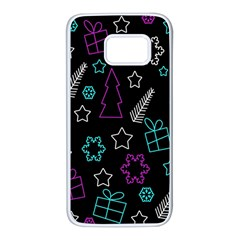 Creative Xmas pattern Samsung Galaxy S7 White Seamless Case