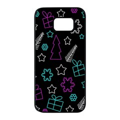 Creative Xmas pattern Samsung Galaxy S7 edge Black Seamless Case