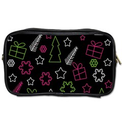 Elegant Xmas pattern Toiletries Bags