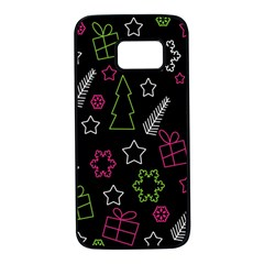 Elegant Xmas pattern Samsung Galaxy S7 Black Seamless Case