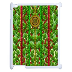 The Golden Moon Over The Holiday Forest Apple Ipad 2 Case (white)