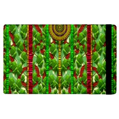 The Golden Moon Over The Holiday Forest Apple Ipad 3/4 Flip Case