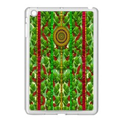 The Golden Moon Over The Holiday Forest Apple Ipad Mini Case (white)