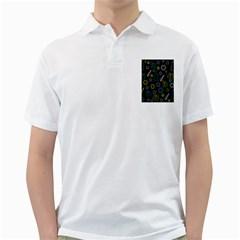 Xmas pattern - Blue and yellow Golf Shirts