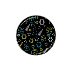 Xmas pattern - Blue and yellow Hat Clip Ball Marker